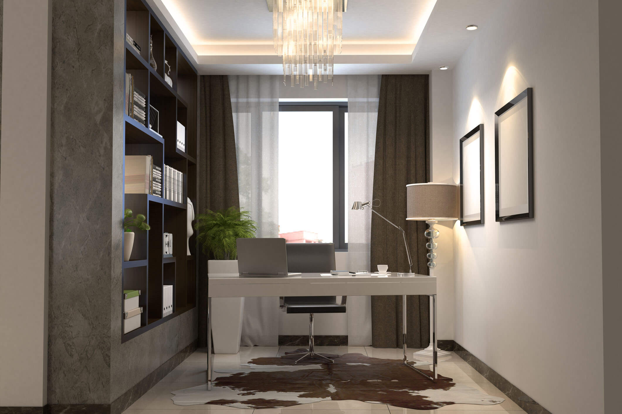 Beige Modern Office